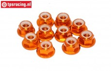 TPS1225/0 Aluminum lock nut M5 Orange, 10 pcs.