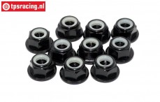 TPS1225/02 Aluminum lock nut M5 Black, 10 pcs.