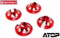 AT-5T018R ATOP Aluminium Spring disk Red LOSI-BWS, 2 pcs.
