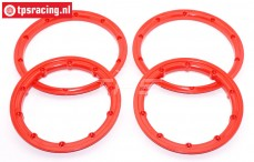 BWS59099/R HD Beadlock Red Ø120 mm, 4 pcs