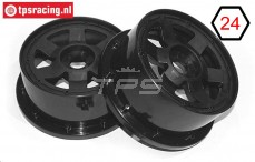 TPS5026/60B Nylon Rim 6-Spoke Black Ø120-W60 mm, 2 pcs.