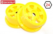 TPS5026/60YE Nylon Rim 6-Spoke Yellow, 2 pcs.