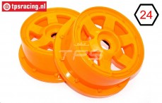 TPS5026/60OR Nylon Rim 6-Spoke Orange Ø120-W60 mm, 2 pcs.
