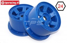 TPS5028/80BL Nylon Rim 6-Spoke Bleu, 2 pcs.