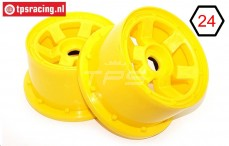 TPS5028/80YE Nylon Rim 6-Spoke Yellow, 2 pcs.