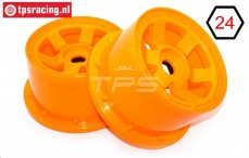TPS5028/80OR Nylon Rim 6-Spoke W80 mm Orange, 2 pcs.