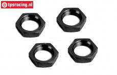 BWS55016Z Wheel nut Black 24 mm, 4 pcs.