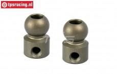 BWS55040 Alloy Balls Ø10-Ø5-H17 mm BWS-LOSI, 2 pcs