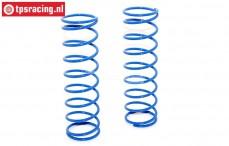 BWS55051/01B Shock spring rear, Bleu, (BWS-LOSI-TLR), Set.