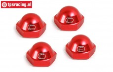 BWS59081R Wheel nut closed Red Ø24 mm, 4 pcs.