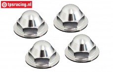 BWS55065 Wheel nut closed Silver Ø24 mm, 4 pcs.
