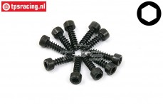 BWS56004 Cap Head Hex Sheet metal Screw (Ø3-L8 mm), 10 pcs