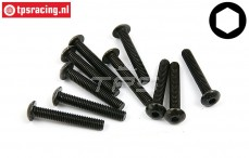 BWS56021 Button Head Screw M4-L25 mm, 10 pcs