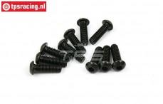 BWS56032 Pan Head Hex Screw (M6-L20 mm), 10 pcs