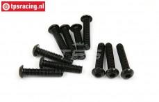 BWS56033 Pan Head Hex Screw (M6-L30 mm), 10 pcs