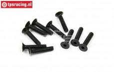BWS56036 Countersunk Hex Screw (M4-L25 mm), 10 pcs