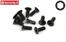 BWS56042 Countersunk Screw M6-L16 mm, 10 pcs