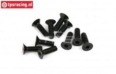 BWS56043 Countersunk Hex Screw (M6-L20 mm), 10 pcs