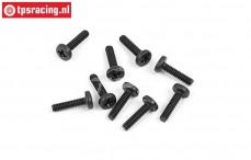 BWS56054 Pan-Head screw (M2-L8 mm), 10 pcs