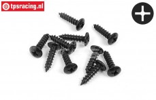 BWS56055 Button Head tapping screw Ø4-L16 mm, 10 pcs