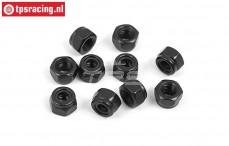 BWS56057 Steel locking Nut M4, 10 pcs