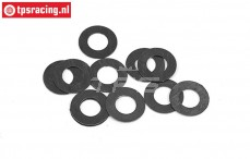 BWS56063 Steel Shim ring Ø5-Ø10-H0,3 mm, 10 pcs