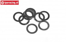 BWS56064 Steel Shim ring Ø9-Ø13-H0,3 mm, 10 pcs