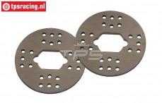 BWS64007 Alloy Brake Disk, (Ø56 mm), 2 pcs.