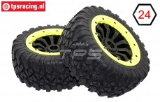 BWS69033/02 MP Grip black-yellow Ø180-B75 mm, 2 pcs