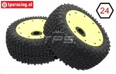 BWS69034/02 MP Grip black-yellow Ø180-B75 mm, 2 pcs