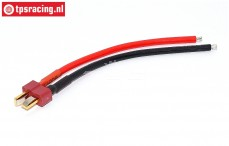 TPS0555 Deans Male Silicone charge Cable, (Ø3-L10 cm), 1 pc.