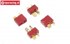 TPS0557 Deans Gold Male & Female Connector, 4 pcs.