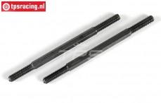FG10022/07 Steel threaded rod, (M7 L/R-L103 mm), 2 pcs.