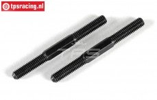 FG10026 Steel threaded rod, (M6 L/R-L64 mm), 2 pcs