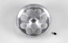Tandriem schijf, (Ø10-B16 mm), (48T), (Aluminium), 1 St.
