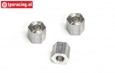 FG1183/02 Alloy Distance 4x8x8 mm, 3 pcs.