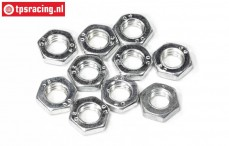 FG1196/05 Steel nut flat M6R-H3,2 mm, 10 pcs