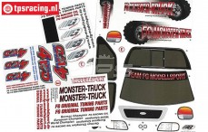 FG26155 Decals FG Monster-Stadium-Street 4WD Truck, Set