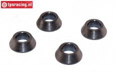 FG4429/02 Steel conical distance bushing Ø5/H5 mm, 4 St.