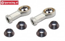 FG4429/01 Steel ball joint, M8R/Ø5 mm, 2 St.