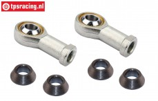 FG4429 Steel ball joint, M6R/Ø5 mm, 2 St.