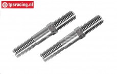 FG4523 Titanium threaded rod, (M8 L/R-L53 mm), 2 pcs