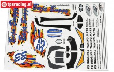 FG60155 Decals Baja Buggy, Set