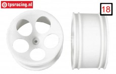 FG60200 1/6 Buggy rims white Ø140-B80 mm, 2 pcs.