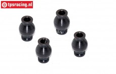FG6081 Steel ball Ø4-Ø10-H15 mm, 4 pcs