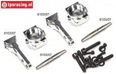FG6103/05 Aluminium Wheelhub front 1/6-2WD Set
