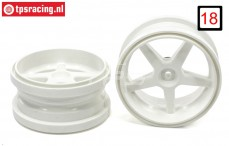 FG6105/02 Rims 1/6 widened White Ø120-B60 mm, 2 pcs.