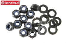 FG6112 Steel Locking nut with washer M6R, 10 pcs.