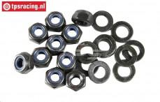 FG6112 Steel Locking nut with washer M6R, 10 pcs.