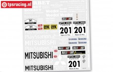 FG6217 Team Decals Pajero Buggy, Set